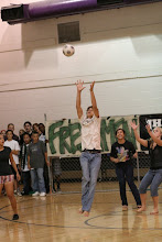 playing kick ball during spirit week