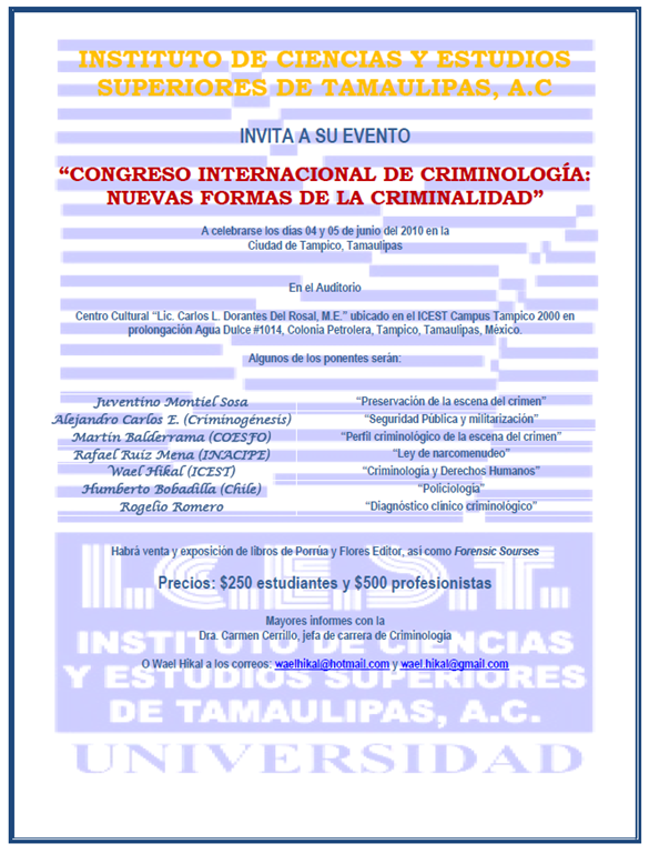 Infodireito: CONGRESO INTERNACIONAL DE CRIMINOLOGÍA