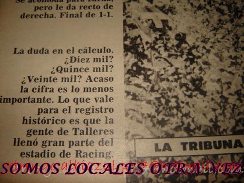 La duda 15,20 mil personas? es lo de menos..que copamos Avellaneda es concreto!