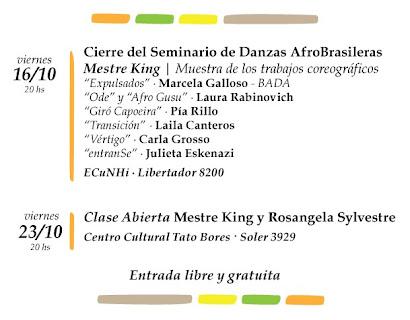 Cierre del Seminario de Danzas Afrobrasileras