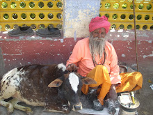 Sadhu and Calf