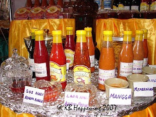 Various types of sauces