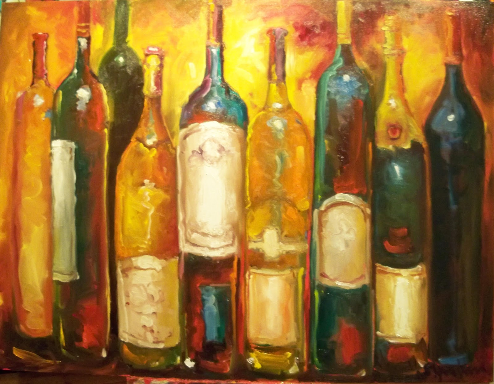 Susan jenkins morning paintings 1 9 11 1 16 11 for What kind of paint to use for wine bottles