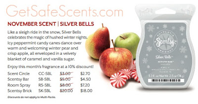 Scentsy Silver Bells Warmer Scent of the Month for November 2010 Instock in Knoxville Oak Ridge TN