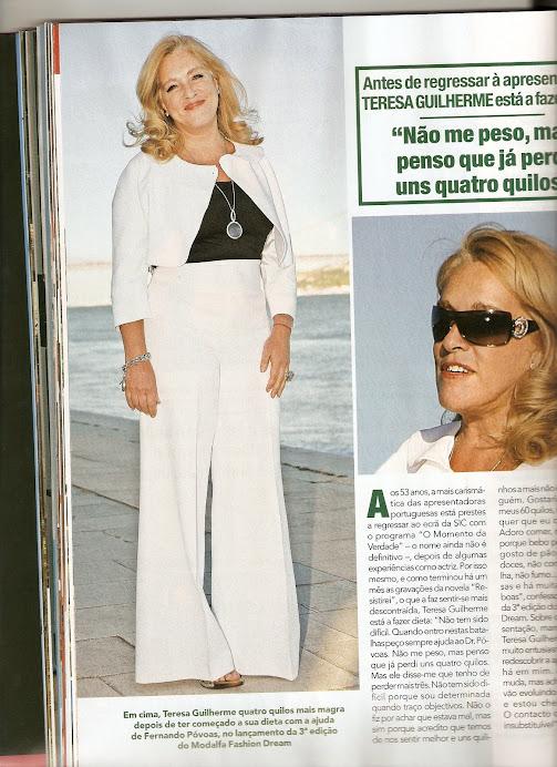 Teresa Guilherme faz dieta antes de regressar á apresentação