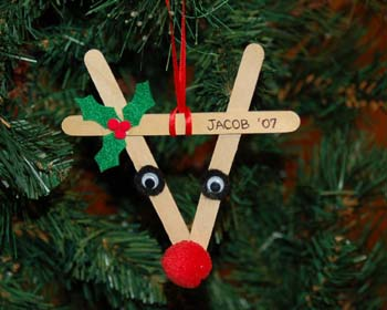 popsicle stick reindeer from crafts for all seasons
