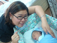 with ninang mommy