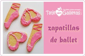 TarjeGalletas inspiradas en Angelina Ballerina...