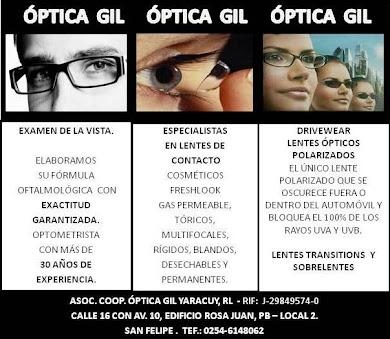 ÓPTICA GIL YARACUY, R.L.