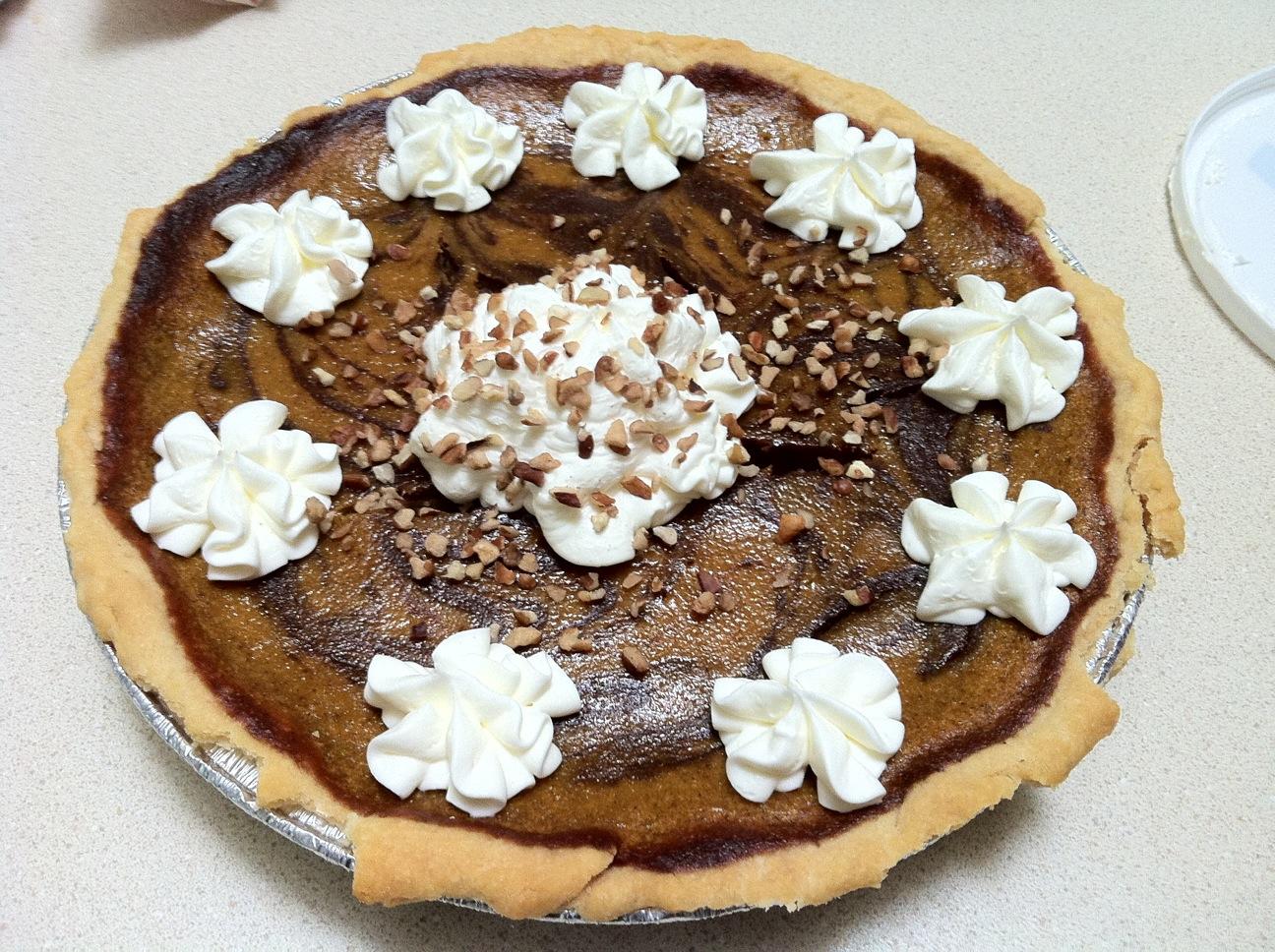 Pumpkin Chocolate Swirl Pie