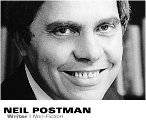 neil postman and the great debate of This webpage originally contained a comic adaptation of part of the foreword to neil postman's book amusing ourselves to death this comic was respectfully removed in.