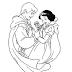 Desenho - Branca de Neve e o Príncipe para Colorir