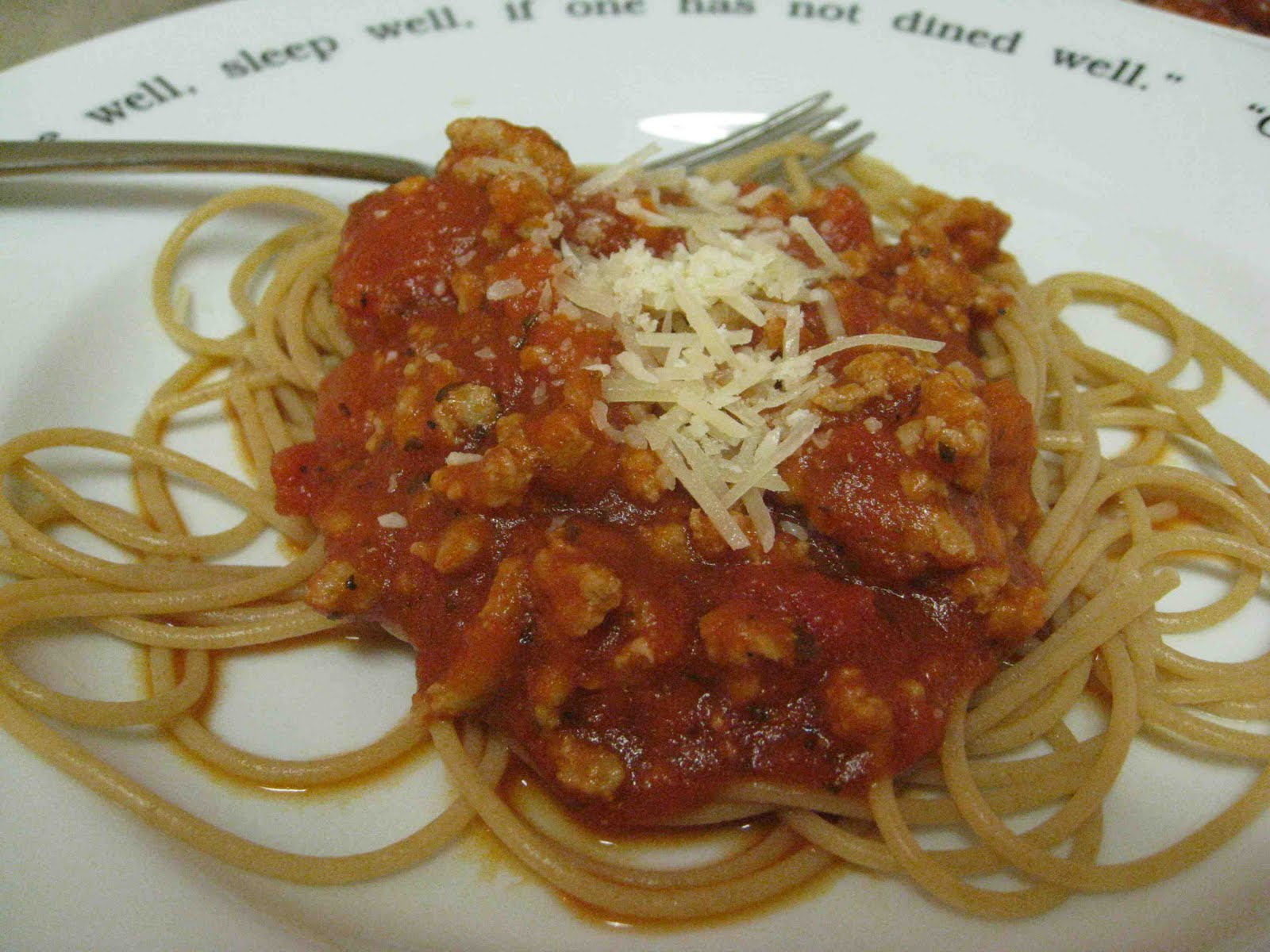 The Colorado Desert: Spaghetti with Meat Sauce