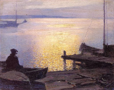 Edward henry potthast 1857 1927 along the mystic river n d