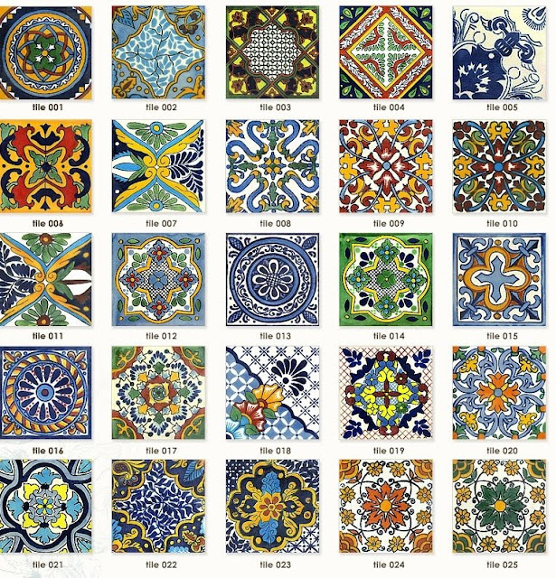 Latin weddings tile placecards for Spanish style kitchen backsplash