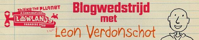 Lowlands Blogwedstrijd met Leon Verdonschot