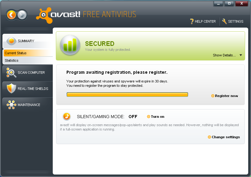 how to delete virus from chest in avast