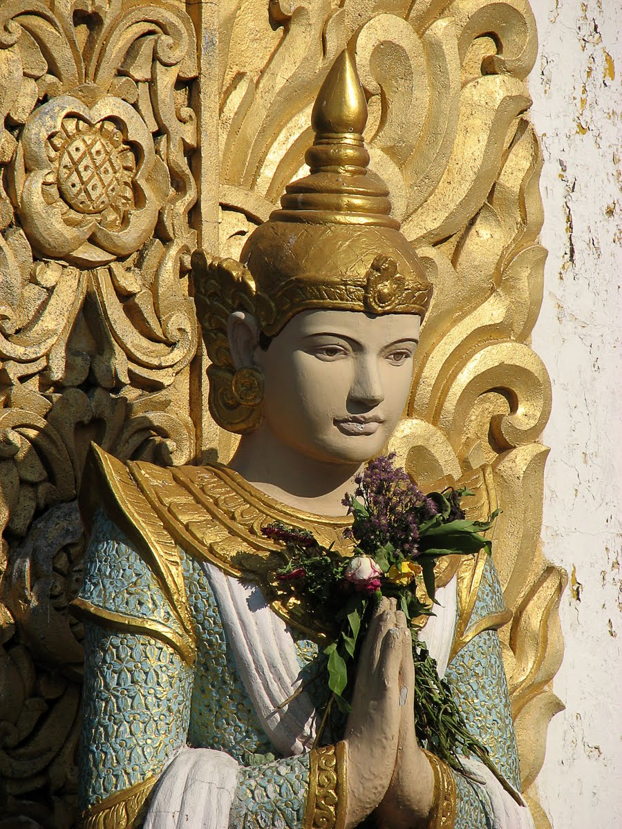 the world of statues  devas  nat  from shwe dagon pagoda