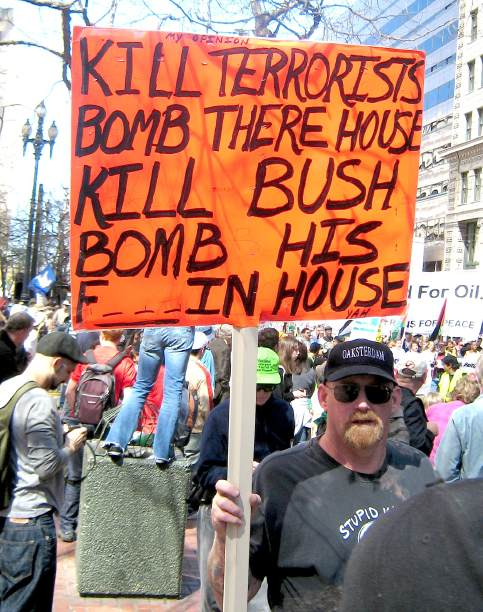 Bomb The House Threats Against Bush At Protests
