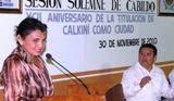 Entrega Medalla M{erito Deportivo 92 Aniversario Titulaci{on Calkiní como Ciudad. 3dic10.