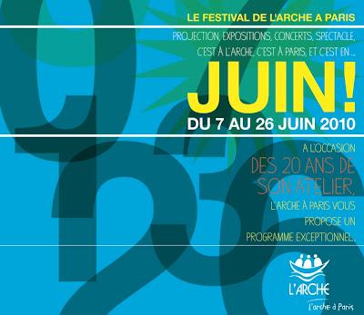 festival juin Arche à Paris