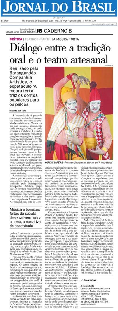 CRÍTICA DO ESPETÁCULO A MOURA TORTA