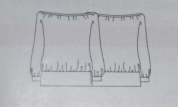 ... Ejemplo, este es el dibujo del blusón de Mango que hice en el verano