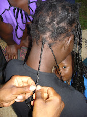 Close-up of Harold's braiding expertise