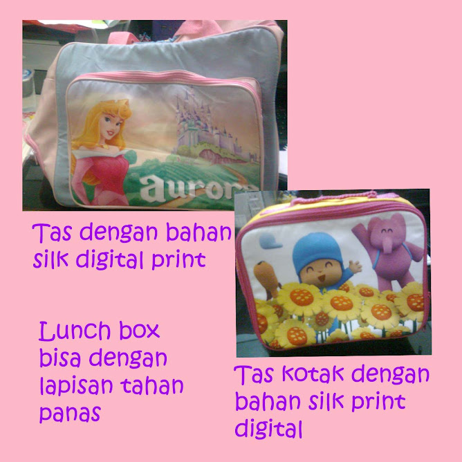 Tas selempang 2 in 1 dan lunch box digital print