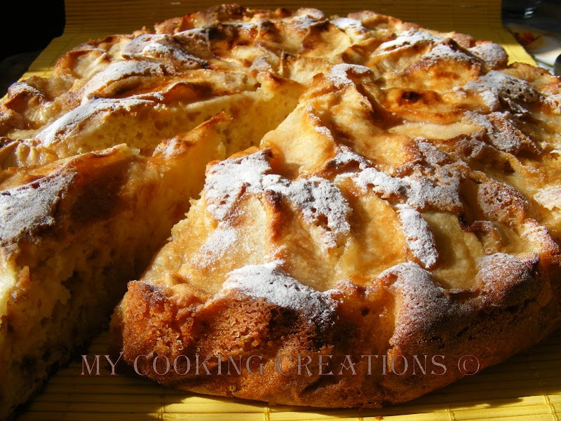 Torta di mele light  *  Лека ябълкова торта
