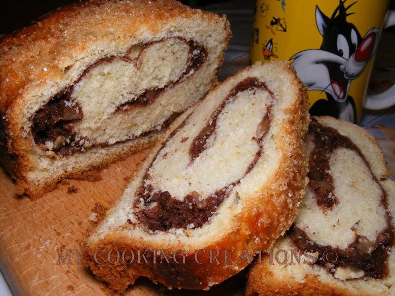 Rotolo con nocciole e cacao  * Козуначено руло с ядки и какао