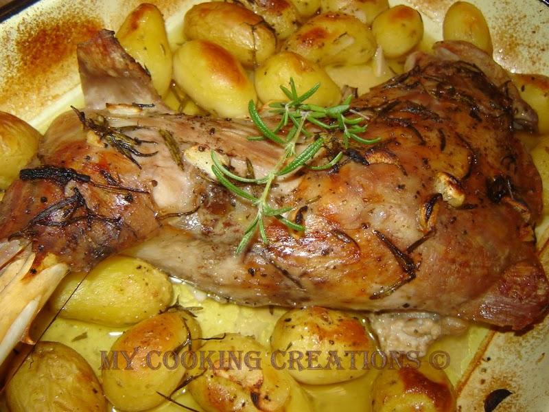 Spalla di agnello con patate arrosto * Агнешко бутче с пресни картофи