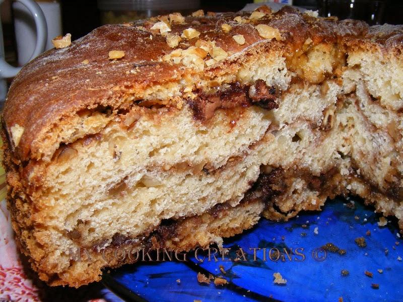 Козуначена торта  с кафе, ром и шоколад
