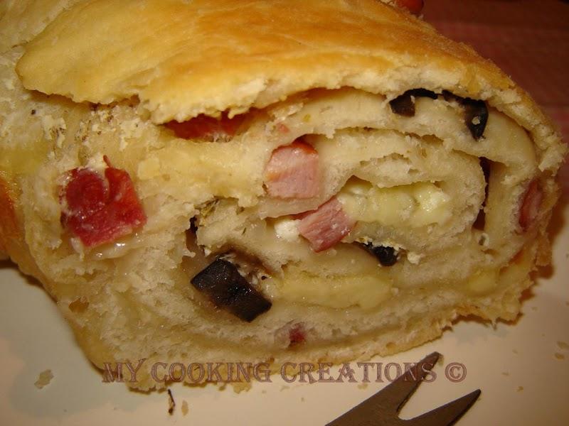 Италианска питка с плънка * Casatiello