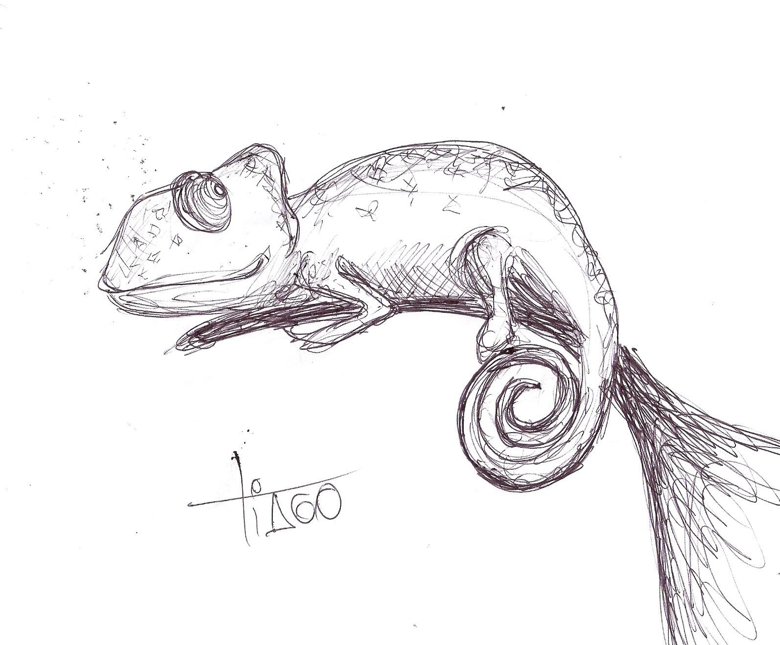 desenhando camaleão
