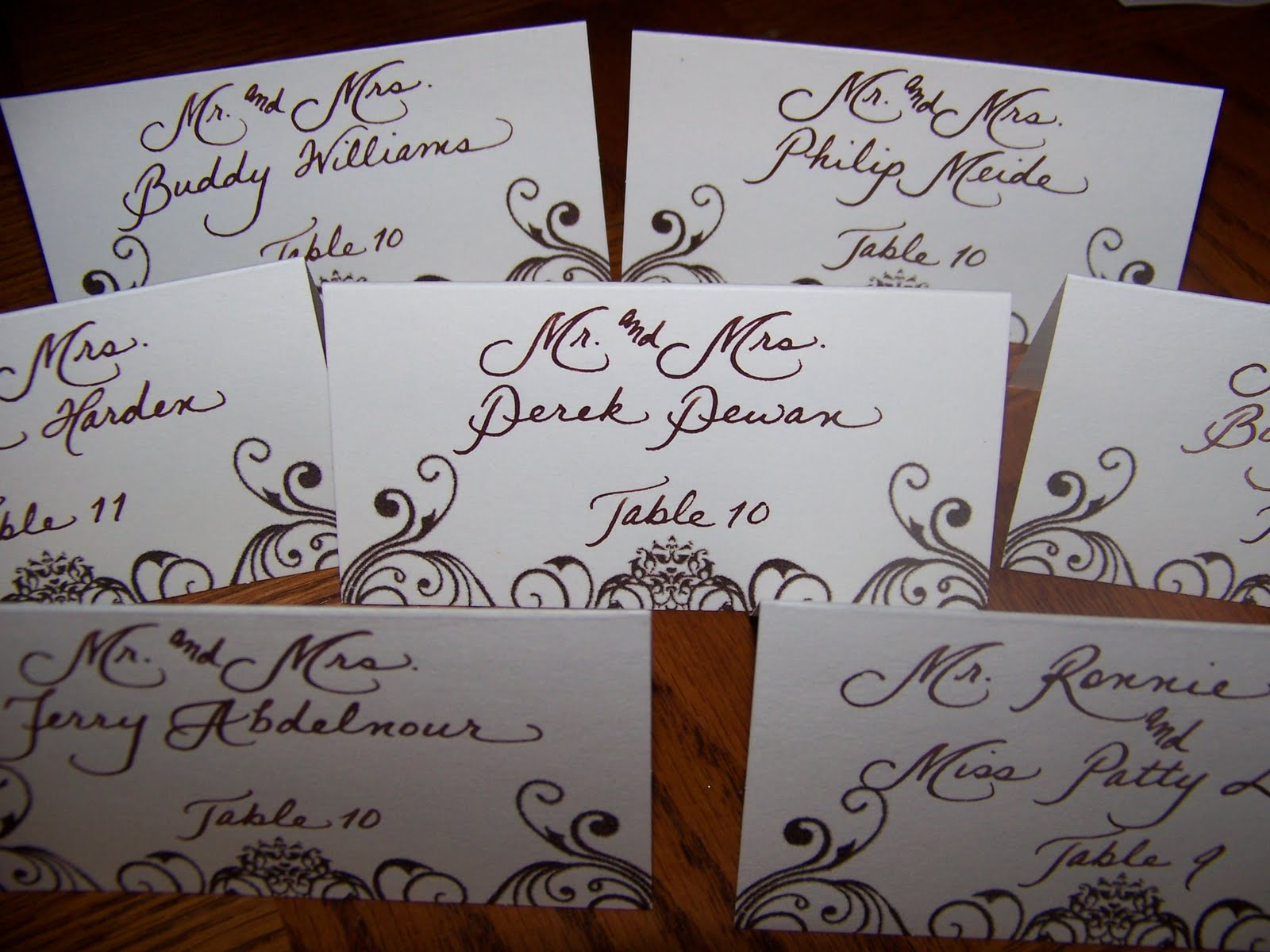 The Personal Touch More Place Cards