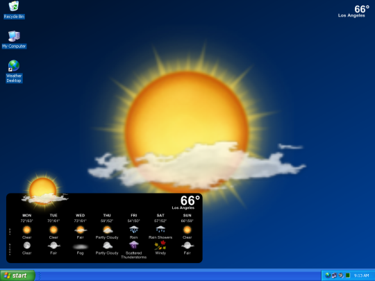Desktop Screensavers Desktop Weather Wallpaper