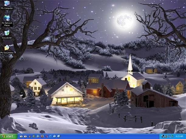 3d animated wallpaper. Winter Wonderland 3D Animated