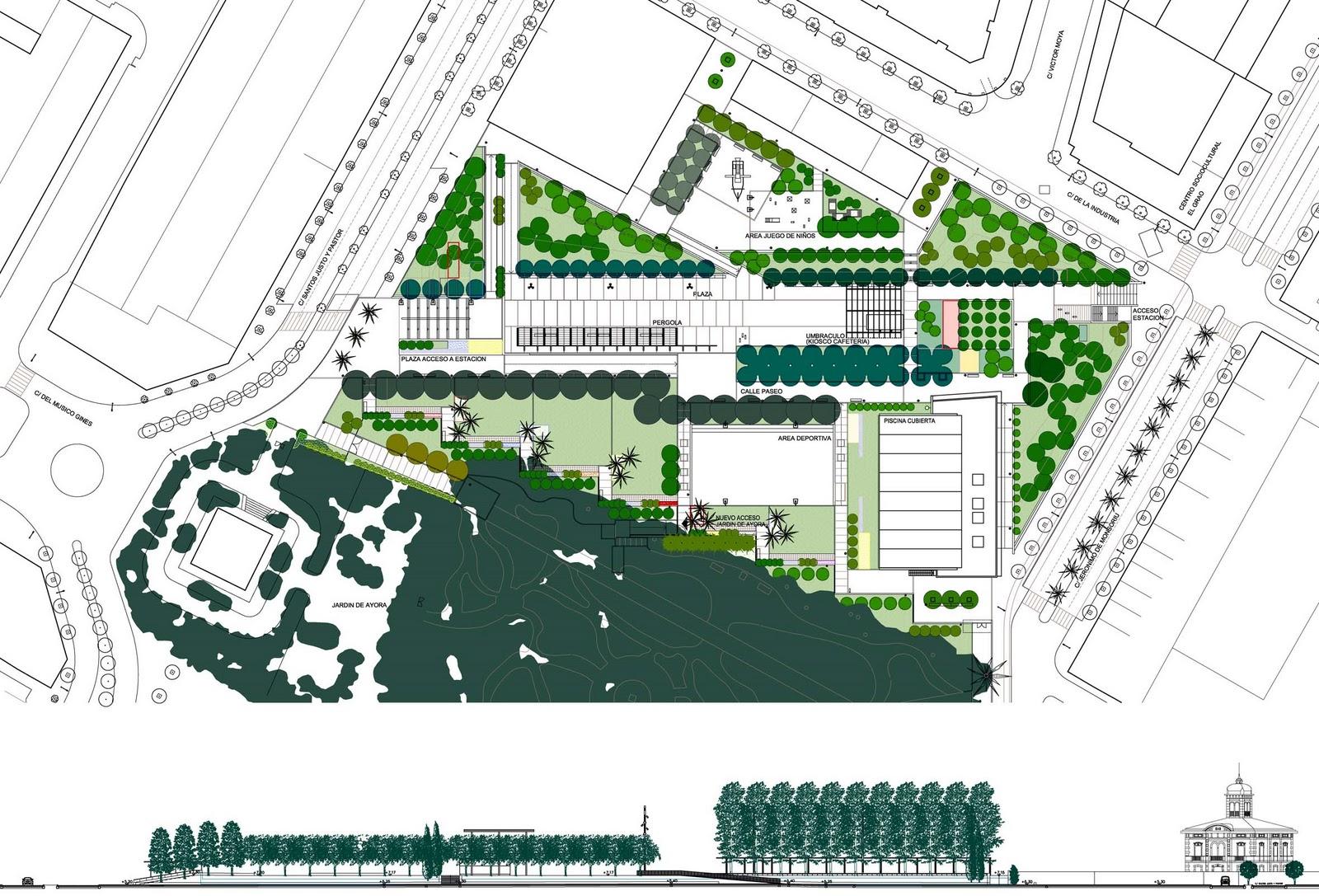 Jpiarquitectura parques y espacios urbanos for Plantas ornamentales para parques