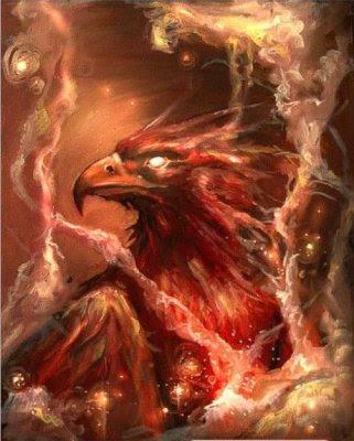 Птица Феникс 4, птица, феникс, вечность, жизнь.