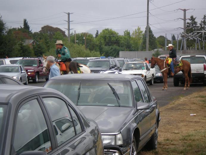 Echte amerikanische Parkplatzeinweiser