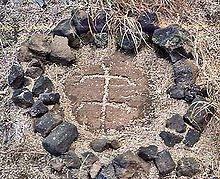 Petroglyph on the western coast of Hawaii.