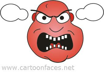 angry cartoon face