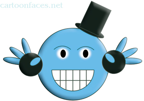 funny animated emoticons. The Smiley Cartoon Face of