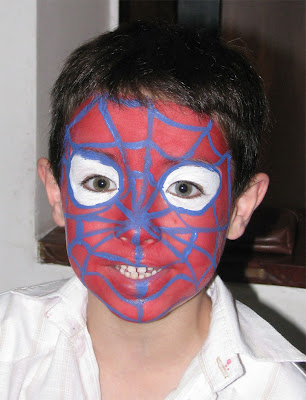 Maquillaje Artístico Infantil , Hombre Araña