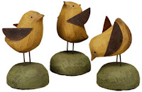 Wood and tin chicks