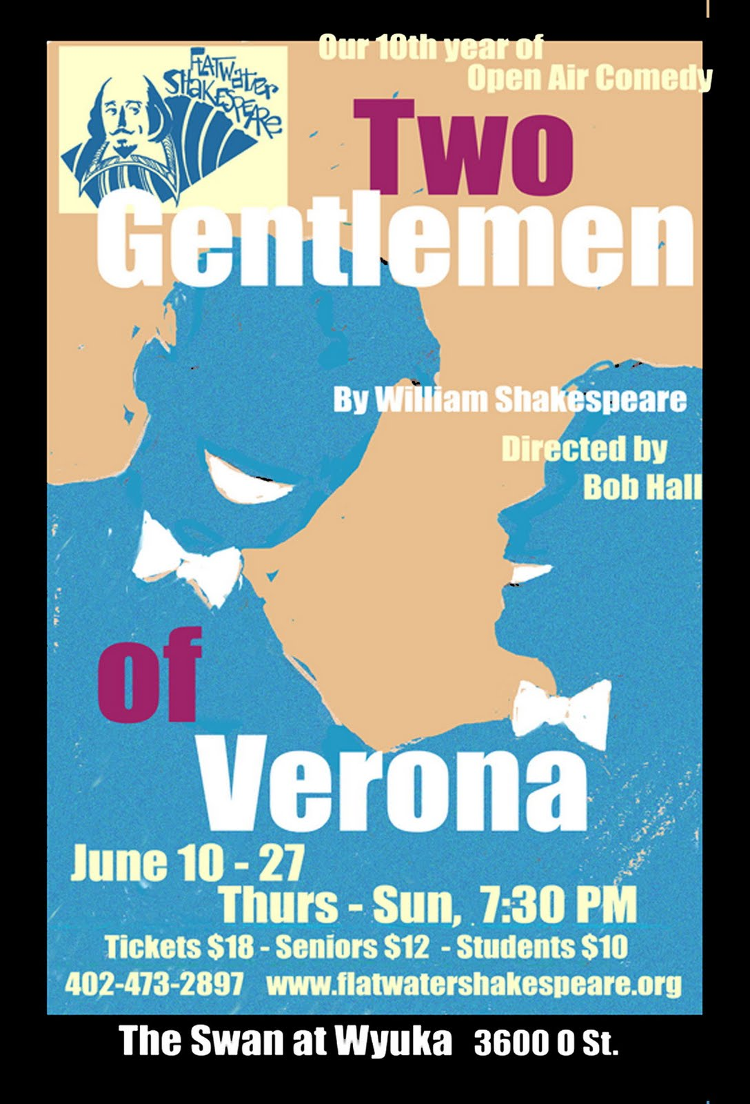 flatwater shakespeare s blog news 2010 ten years of open air comedy flatwater shakespeare presents the two gentlemen of verona