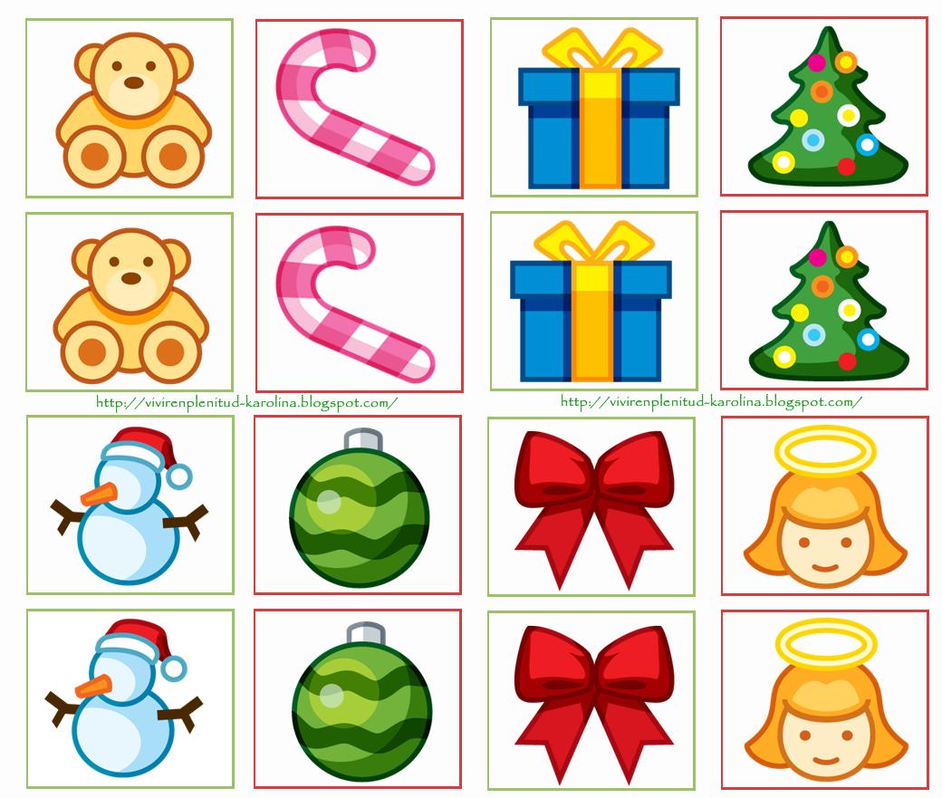 Dulces momentos memorama navidad - Figuras de navidad para imprimir ...