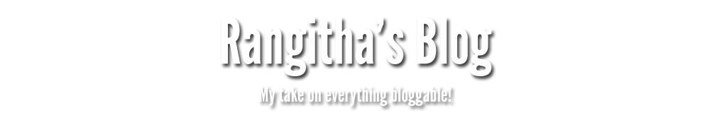 Rangitha's Blog