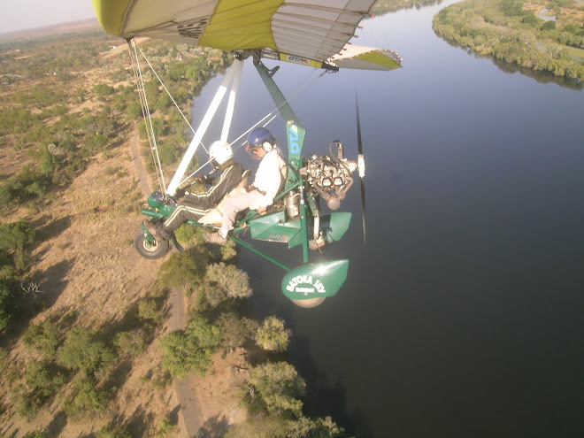 Microlight flight over the Victoria Falls